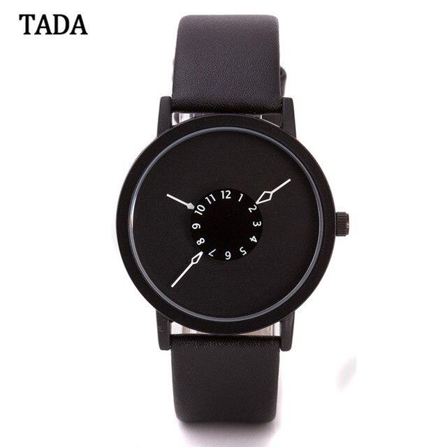 Luxury Brand Смотреть TADA Водонепроницаемые часы Часы Кожа мужчины и женщины браслет часы relojes mujer 2016 Быстрая доставка Feida