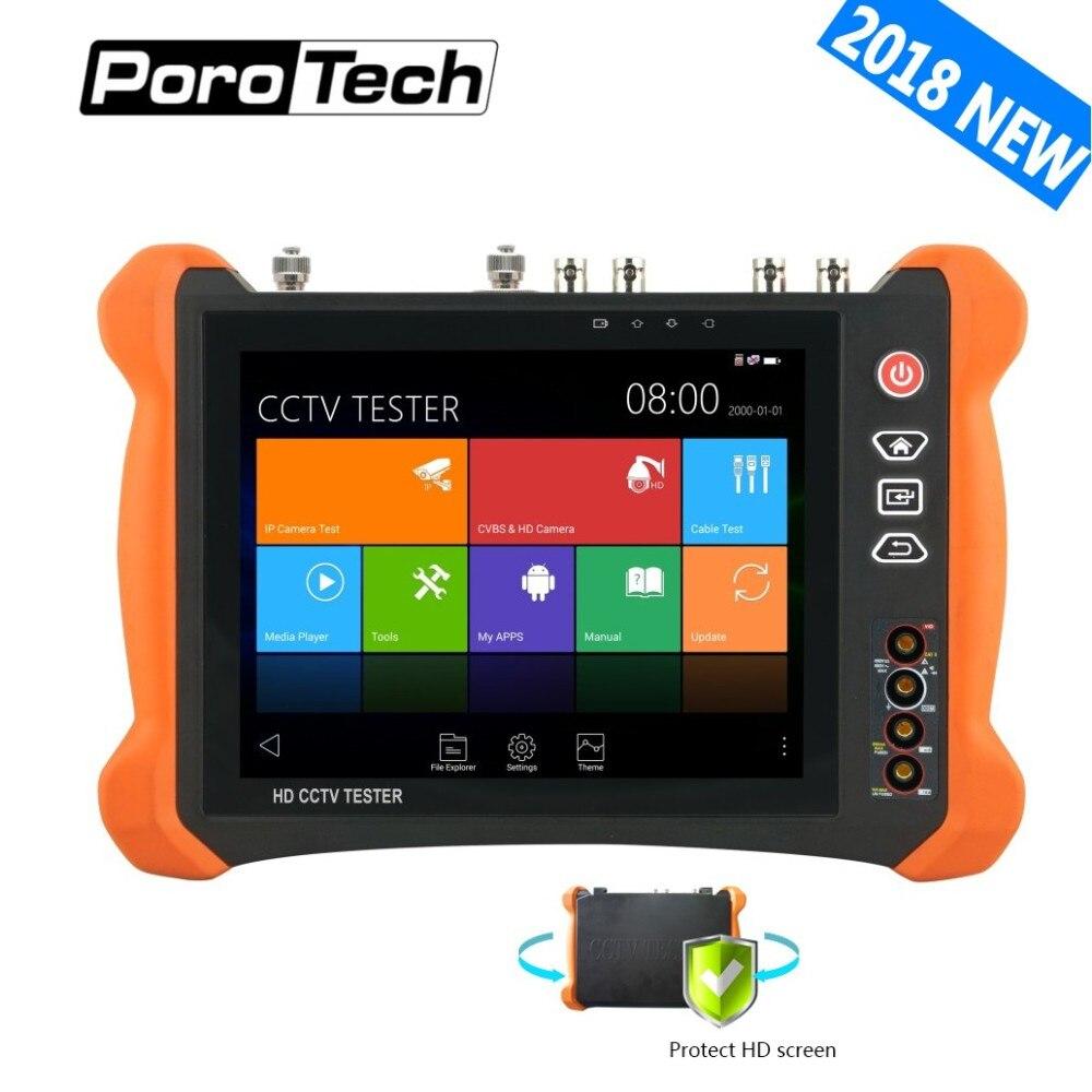 2018New 8 pouces CCTV Testeur Moniteur X9 8MP TVI CVI 5MP AHD SDI CVBS H.265 4 k IP Caméra testeur avec OPM, TDR, Câble traceur, Multimètre