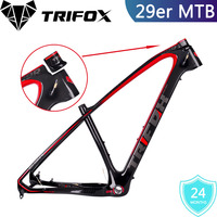 TRIFOX Carbon MTB Frame, 3K Glossy, Carbon Mountain Bike Frame 29ER,Carbon MTB Frame, Bike Frame+Seat Clamp+Headset