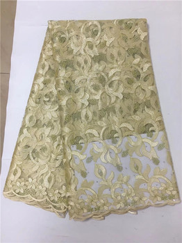 French Net Lace Fabric 2019 Latest African Lace Fabric With Embroidery Mesh Tulle Lace Fabric High quality Nigerian Lace