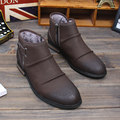 New Trendy British Mens Wrinkle Style Leather Casual Snow Ankle Boots Casual Martin Winter Shoes