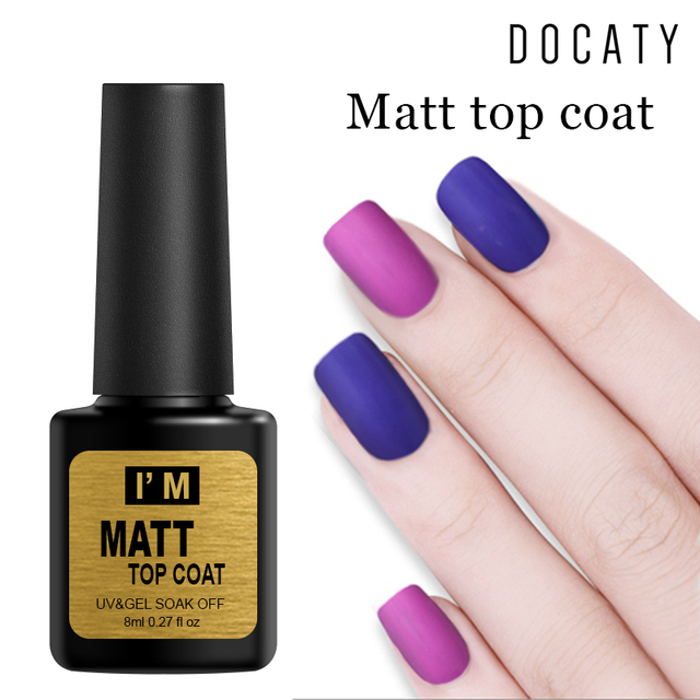 Docaty Gels for Nail Polishes Led Lamp Gel All for Manicure Gel with Lacquer Matte Top Coat Nail Art Design Professional