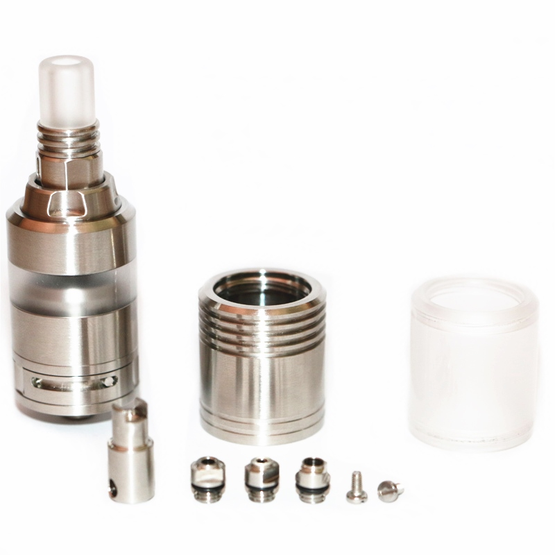 KA V7 Nano Styled RTA Rebuildable Tank Atomizer 23mm 3.0ml 304 Stainless Steel E Cigarette RTA Vapozier Tank With Glass Tube