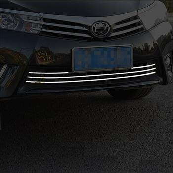 Grille Automobile Chromium Auto Decorative Modified Car Styling Bright Sequins Sticker Strip 14 15 16 17 18 FOR Toyota Levin