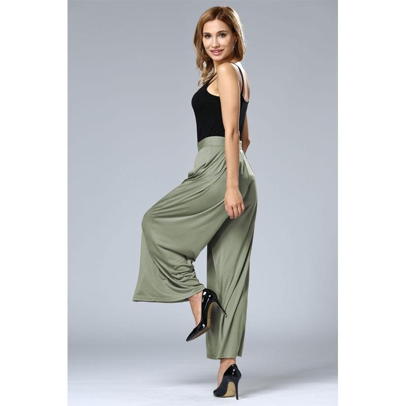 HTB10bUcOFXXXXb7XFXXq6xXFXXXP - Wide Leg Pants High Waist Long Pants Button Office Work Wear PTC 186