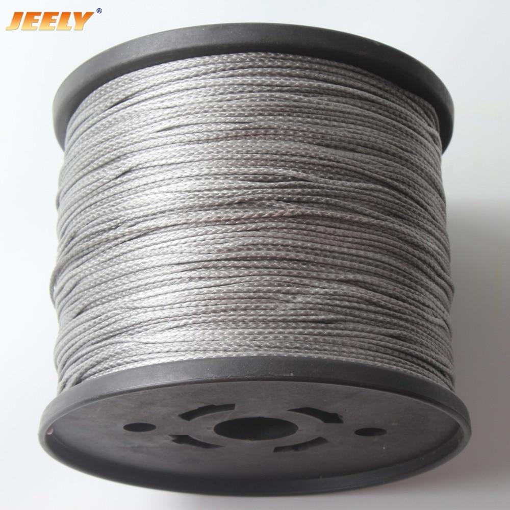 JEELY 1322lbs 2.3mm KITE LINE UHMWPE 16 strands 50M Spectra WINCH LINE цены
