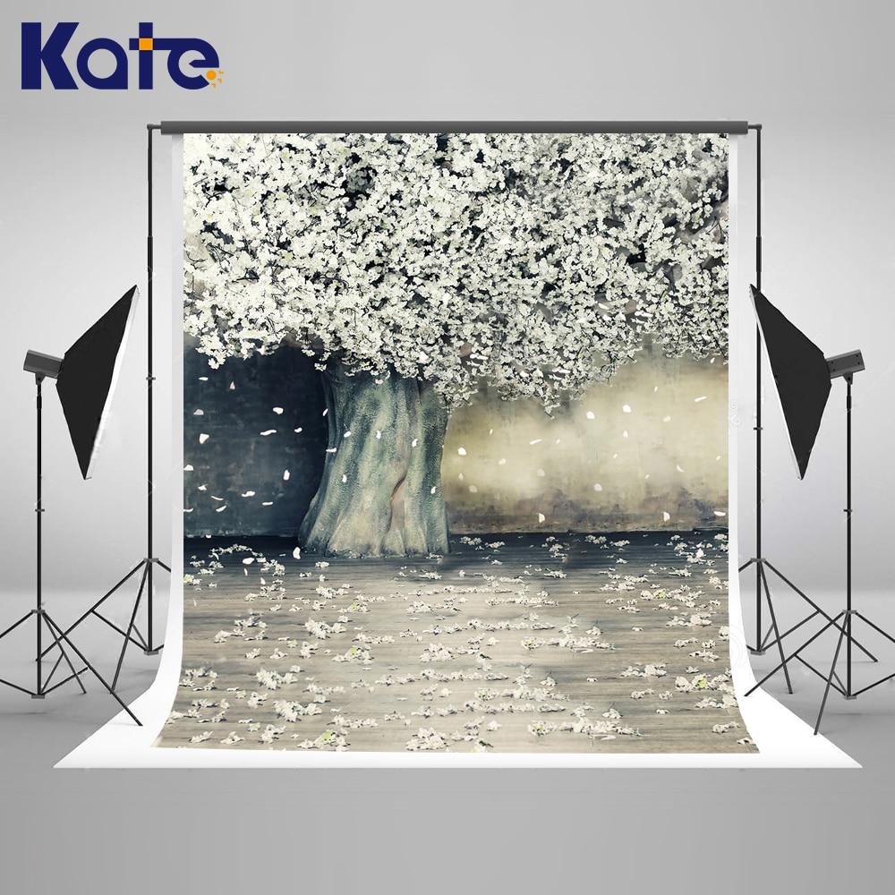 ФОТО Kate Indoor Wedding Backdrop White Wood Flower Backdrops Newborn Backdrops Large Size Seamless Photo