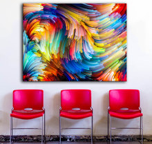 HDARTISAN Colored lines 734091 oil painting on Canvas wall painting picture for Living Room posters and prints No framed(China)