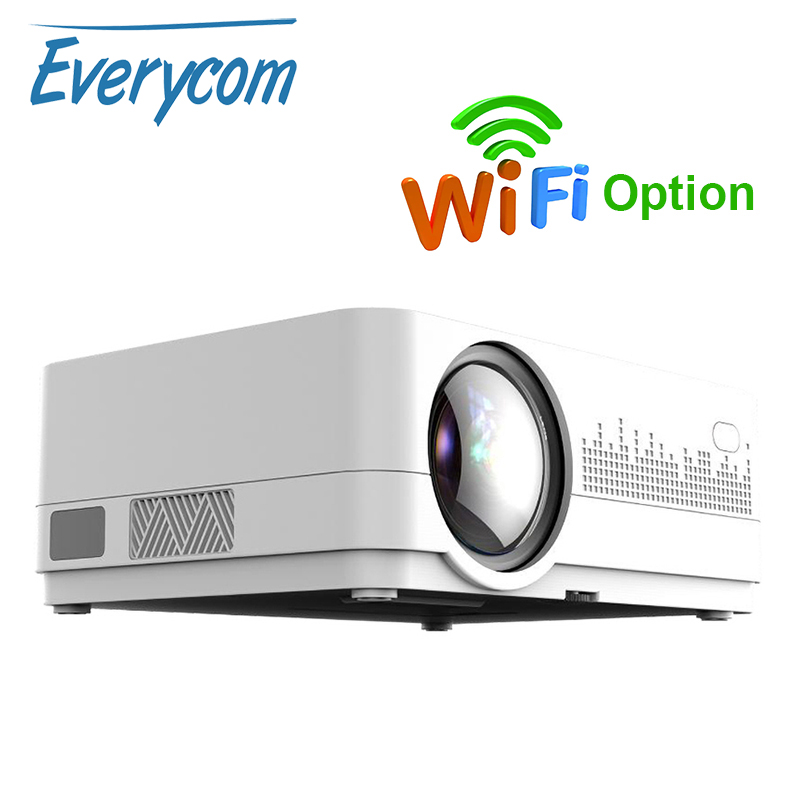 Newest HQ3 WiFi Projector Video Projecteur Everycom HQ2 3000 Lumi HD 1280 720P LED Home Theater