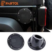 Partol автомобильный Стайлинг Авто топливный бак крышка двери газовая крышка без блокировки для Jeep Wrangler JK 2007 2008 2009 2010 2011 2012 2013