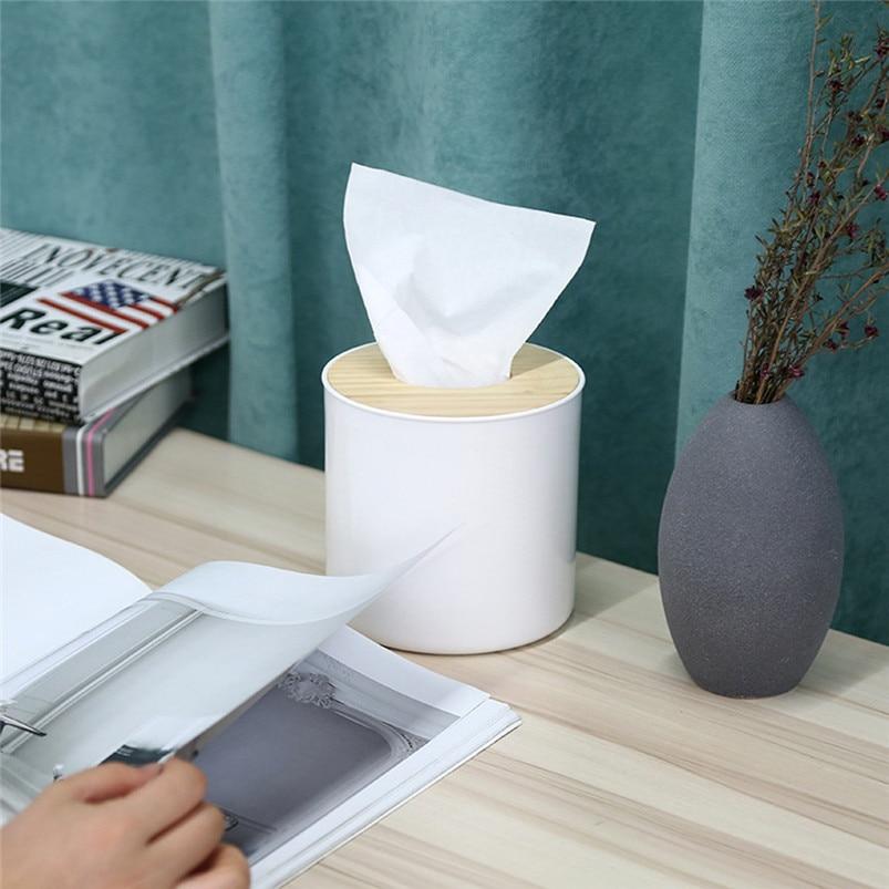 Table Napkin Paper Case Holder Storage Tissue Box Cover Organizer Dispenser LA