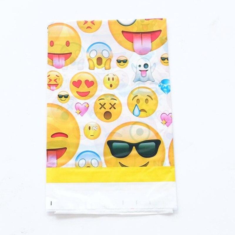 1 Pcs 1.8*1.08 M Smiley Emoji Usa E Getta Di Compleanno Tovaglia Per I Bambini Emoji Festa Di Compleanno Di Plastica Tovaglia Decorazione