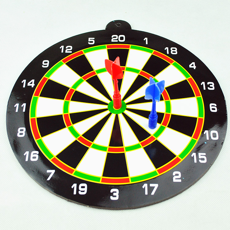 24.5CM Kids Toys For Children New Indoor Sport Double Target Children Dart Magnetic Flocking Dartboard Board Double Thickening