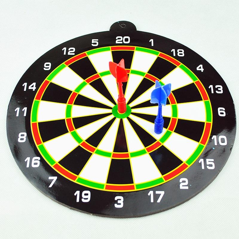 24.5CM Kids Toys For Children New Indoor Sport Double Target Children Dart Magnetic Flocking Dartboard Board Double Thickening
