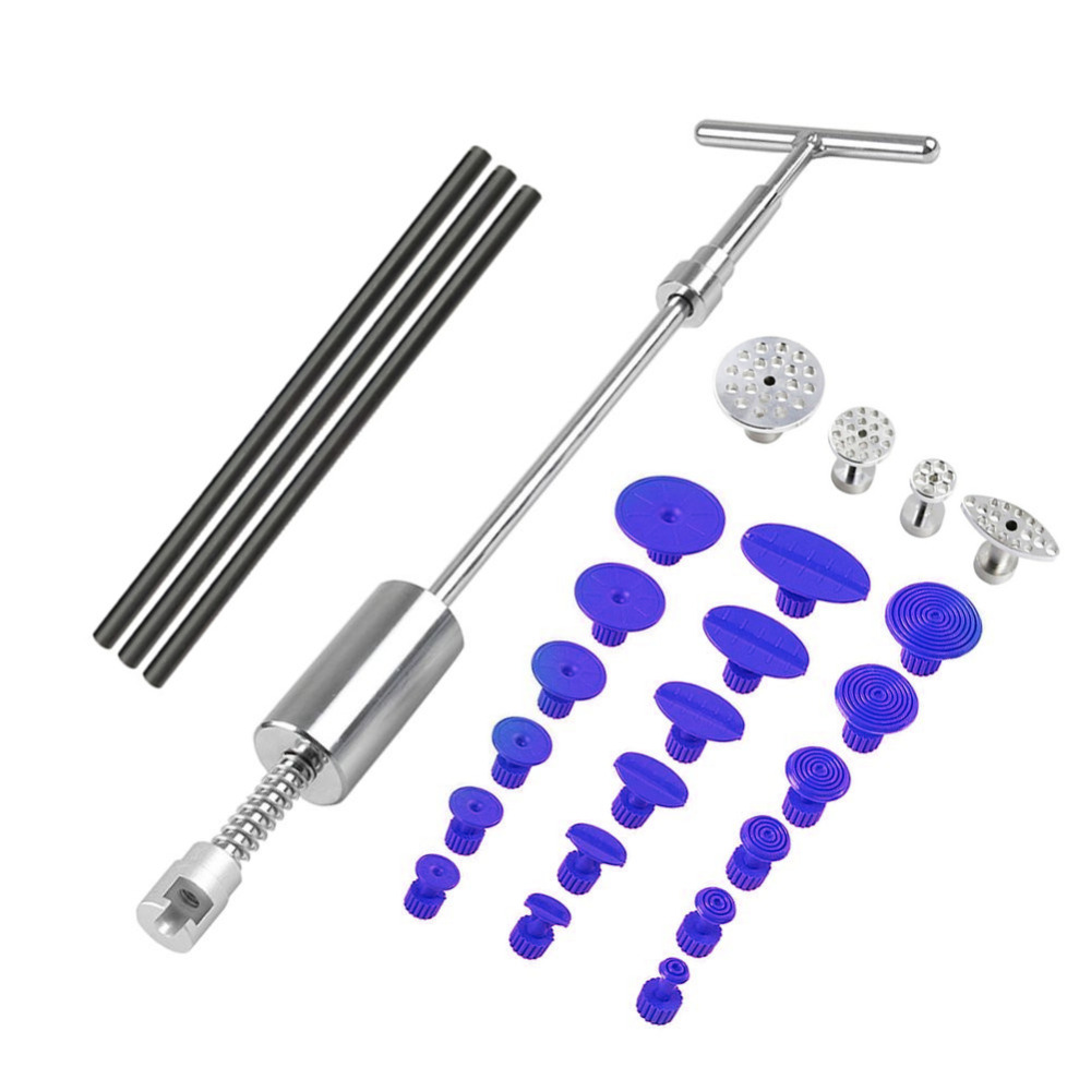 PDR Tools paintless Dent Repair Dent Puller Kit Dent removal Slide Hammer glue sticks Reverse Hammer Glue Tabs for Hail Damage цена