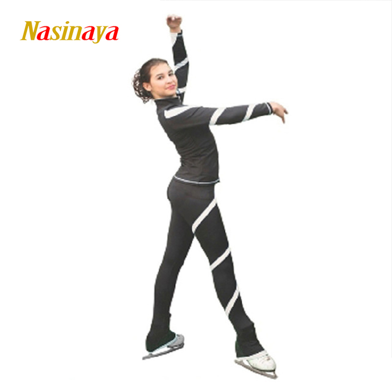 Customized Figure Skating suits jacket and pants long trousers for Girl Women Training Patinaje Ice Skating Warm Gymnastics 1