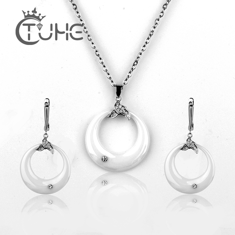 Μαύρο λευκό σκουλαρίκια & κρεμαστό - Κοσμήματα μόδας - Φωτογραφία 2