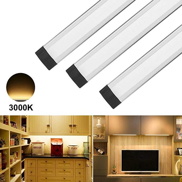 Dimmable Under Counter Kitchen Lighting, Touch Control Closet Light, 12W  1800lm, 3000K Warm