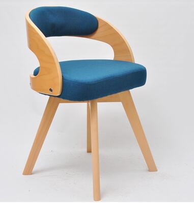 Купить с кэшбэком Real wood cloth art dining chair. Books and chairs. Back chairs for home leisure chairs..010