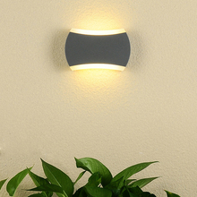 Outdoor Lighting 6W LED Wall Sconces Light Fixture Acrylic Lamp Waterproof Patio