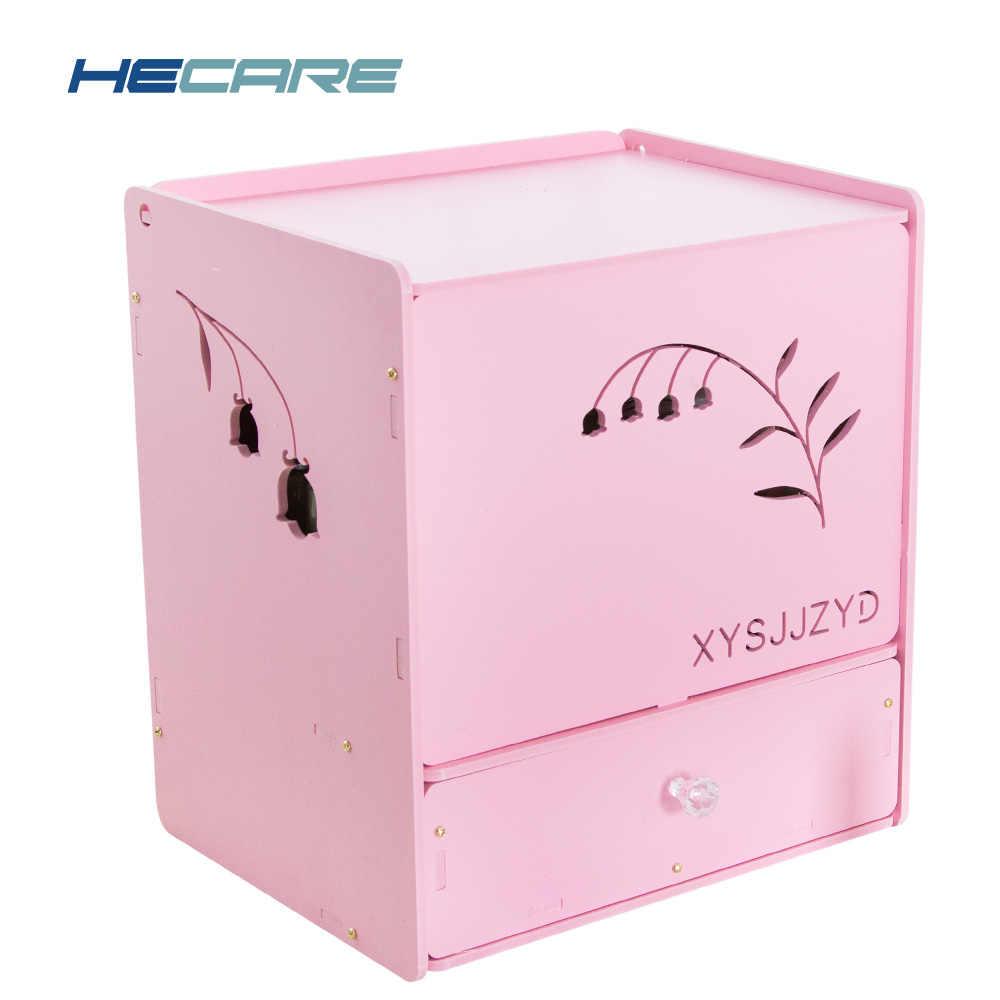 2019 新メイクアップオーガナイザープラスチック化粧箱メイクアップテーブル白ピンク自宅保管防水浴室ボックスと引き出し