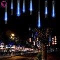 100-240V/EU Blue 20CM Meteor Shower Rain Tubes LED Light For Christmas Wedding Garden Decoration Lighting Holiday Lights