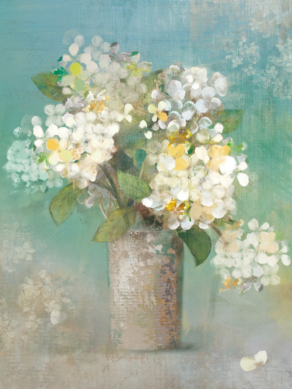 Hydrangea Wall Art green still life canvas hand painted oil painting picture print