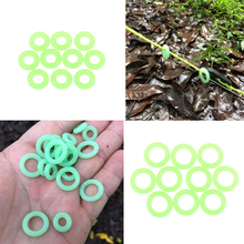 MagiDeal 10 Pieces Silicone Luminous Ring Night Fishing Tent Nail Mark Signs for Outdoor Camping Canopy Accessories