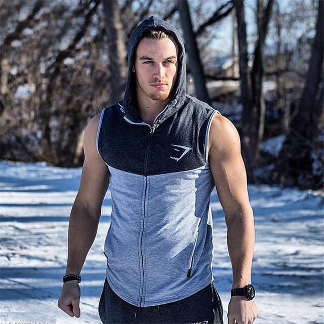 2248e025 Men GymShark Hoodie Stringer Tank Top Men Gymshark Workout Fitness vest mens  briefs Top Sleeveless T