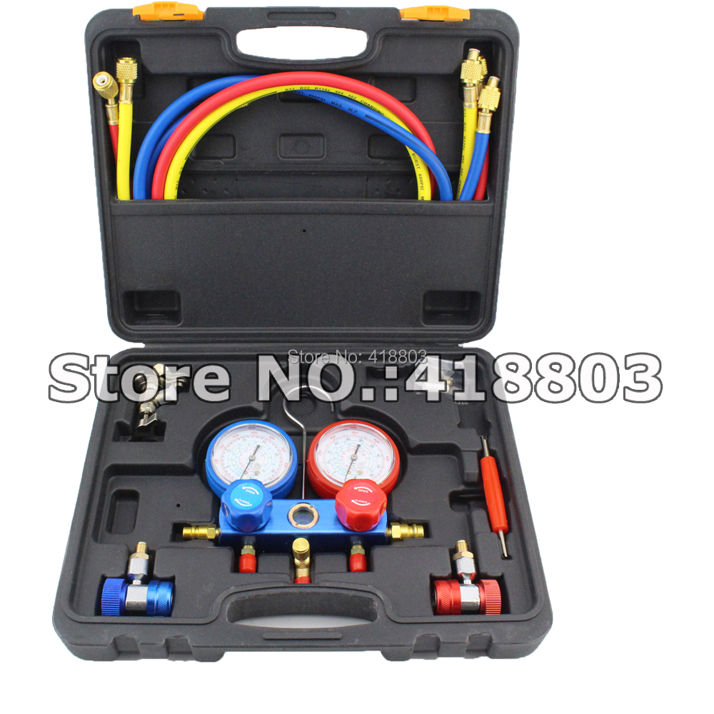High Quality R134A Manifold Gauge Feron Adding Gauge For R134A Cooling System Testing font b Tool