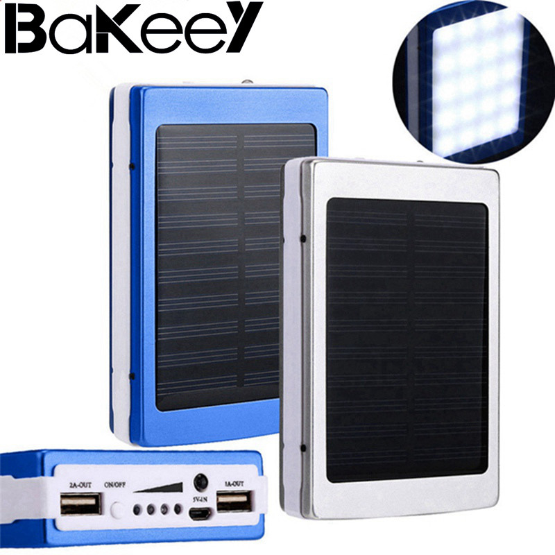 High Quality Bakeey 5x18650 Dual USB Solar Energy Camping Flashlight 20000mAh Battery Case Power Bank Box|Power Bank Accessories| |  - title=