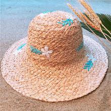 100% Raffia Straw Handmade Weave Women Beach Sun Hat With Wide Brim Lady  Dome Bucket Sunbonnet Size 56-58CM 648f5c202600