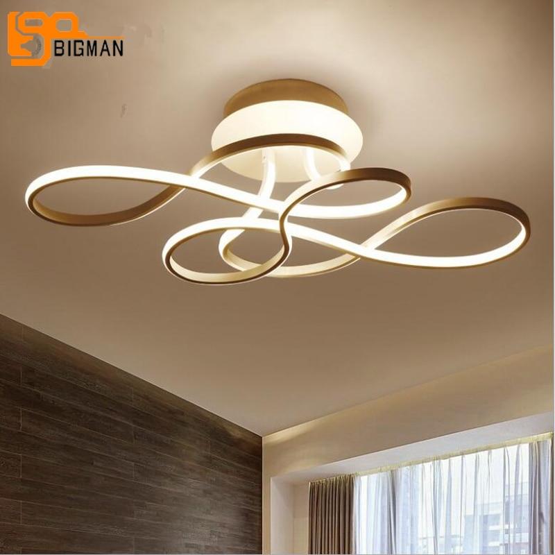 Simple design LED ceiling lamp modern ceiling light L75*W37*h22cm living room bedroom white /black LED lights