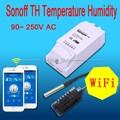 16A Sonoff TH Monitor De Temperatura E Umidade Sem Fio Wi-fi Inteligente controlador de Interruptor do temporizador Para O Telefone de Casa Inteligente APP + Temperatura