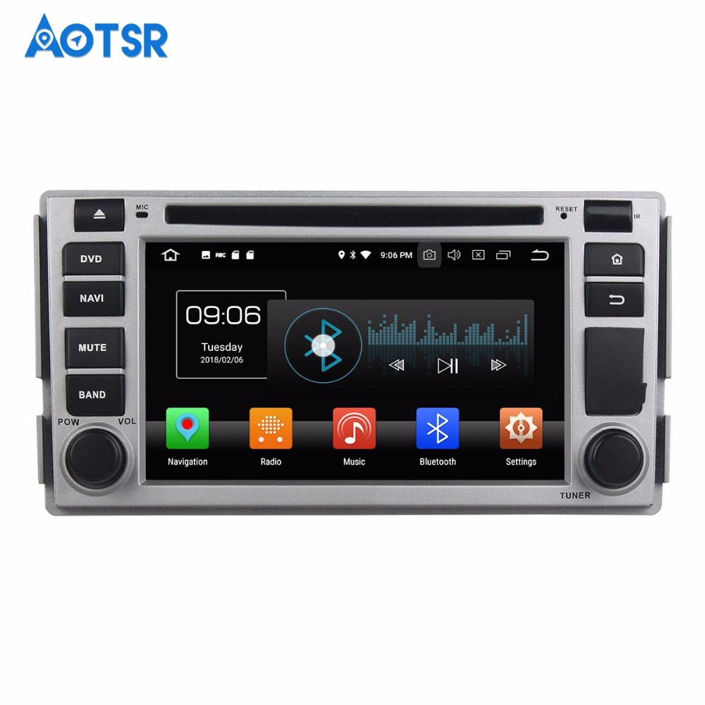 Android 9.0 Octa 8 Core 4GB RAM 64GB lecteur DVD de voiture ROM pour Hyundai Santa Fe 2006-2012 GPS Navigation Radio stéréo carte gratuite IPS