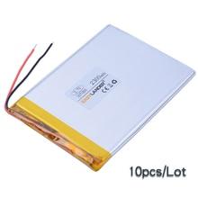 10pcs Lot 3 7V 2300mAh Lipo Polymer Li ion Lithium Battery For font b Walkie b