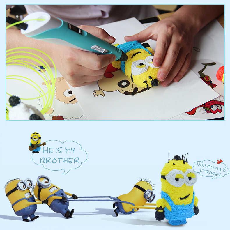 KYY 3D Pen DIY 3D Tekening Pen met Gratis 9 Meter PCL 1.75mm Filament Lage Temperautre Smart 3D Afdrukken pen Doodler