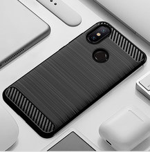 Telefon kılıfı için Xiaomi Mi A2 6X Mi6X MiA2 2 6 X Xiaomi6X XiaomiA2 silikon sağlam zırh yumuşak elyaf kapak karbon Fundas Coque