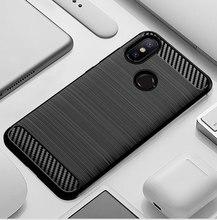 เคสโทรศัพท์สำหรับ Xiao mi mi A2 6X mi 6X mi A2 2 6 X Xiao mi 6X Xiao mi A2 ซิลิโคนเกราะทนทาน Soft เส้นใยคาร์บอนไฟเบอร์ Fundas Coque