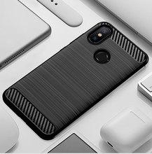 Étui de téléphone pour xiaomi mi A2 6X mi 6X mi A2 A 2 6 X Xiao mi 6X Xiao mi A2 Silicone robuste armure couverture en Fiber souple carbone Fundas Coque