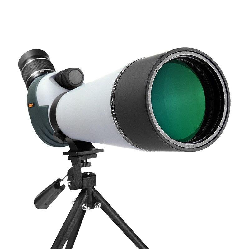 20-60x80 télescope monoculaire étanche grand objectif Zoom oiseau miroir monocylindre jumelles Spyglass longue-vue