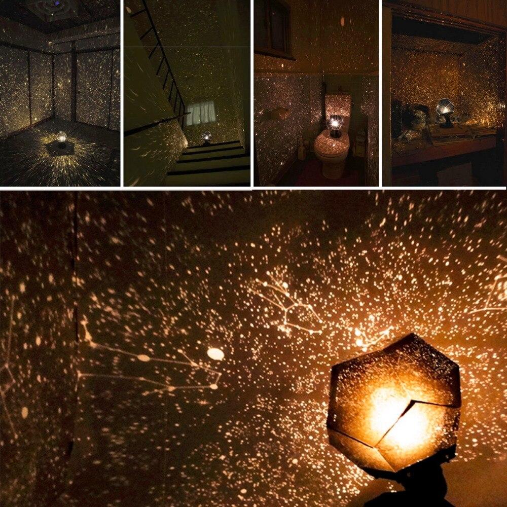 Celeste Stella Astro Luci di Proiezione del Cielo Cosmo Lampada Del Proiettore di Notte Stellata Romantica Decorazione di Illuminazione Gadget Vendita Calda 2017