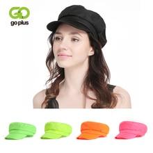 GOPLUS 2019 Fashion Fluorescent Color Beret Hats For Women Casual Streetwear Flat Cap Girls Elegant Summer Hip Hop Female