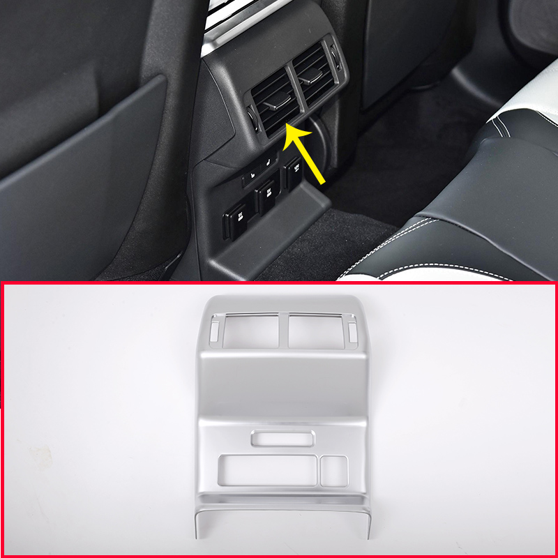 Chrome Rear Row Air Conditioning Vent Outlet Frame Cover For Land Rover Range Rover Velar 2017 Styling Car Accessories