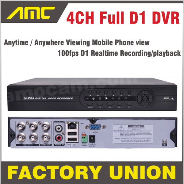 DVR 4ch Full D1 CCTV DVR Recorder DVR 4 Channel Mobile Phone View Real Time Recording Standalone DVR Recorder free shipping 4 ch 4g gps vehicle car dvr kit h 264 g sensor mobile dvr pc phone real time view duty cctv camera for car truck
