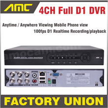 DVR 4ch Full D1 CCTV DVR Recorder DVR 4 Channel Mobile Phone View Real Time Recording Standalone DVR Recorder