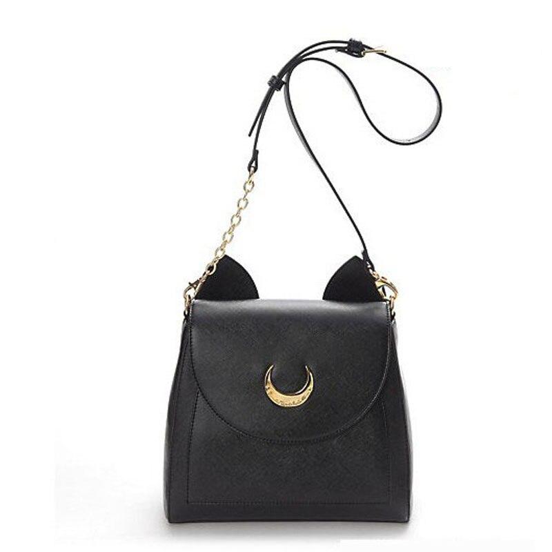 2016 Samantha Vega Sailor Moon Bag Women Handbags Famous Brands Luna Black White Cat PU Leather Shoulder Bags TWO TYPES - eShop Online Store store