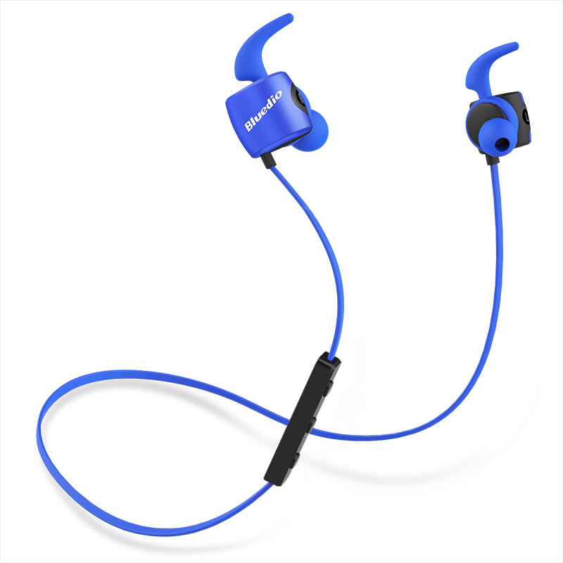 2017 Earphones Original Bluedio TE Sports Bluetooth Headset/wireless Headphone In-ear Earbuds Built-in Mic Sweat Proof Earphone bluedio te red