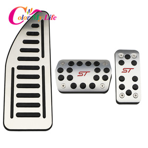Image 2 - Color My Life Car Gas Fuel Pedal Set Brake Pedals Rest Foot Pedal Covers for Ford Focus 2 3 4 MK2 MK3 MK4 RS ST Kuga Escape