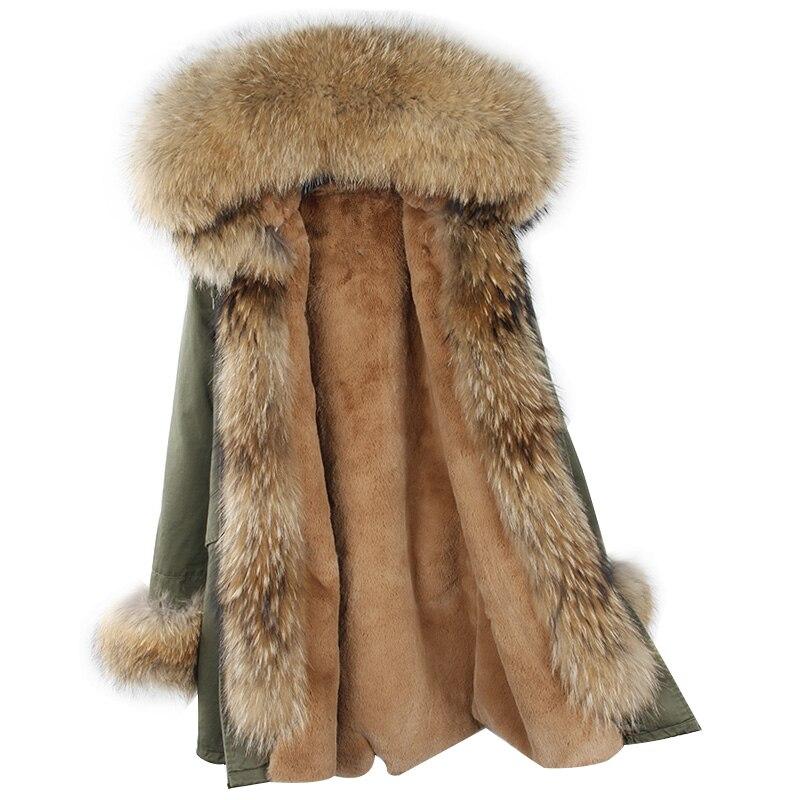 OFTBUY 2019 new long parka winter jacket women winter coat women fur coat real natural raccoon